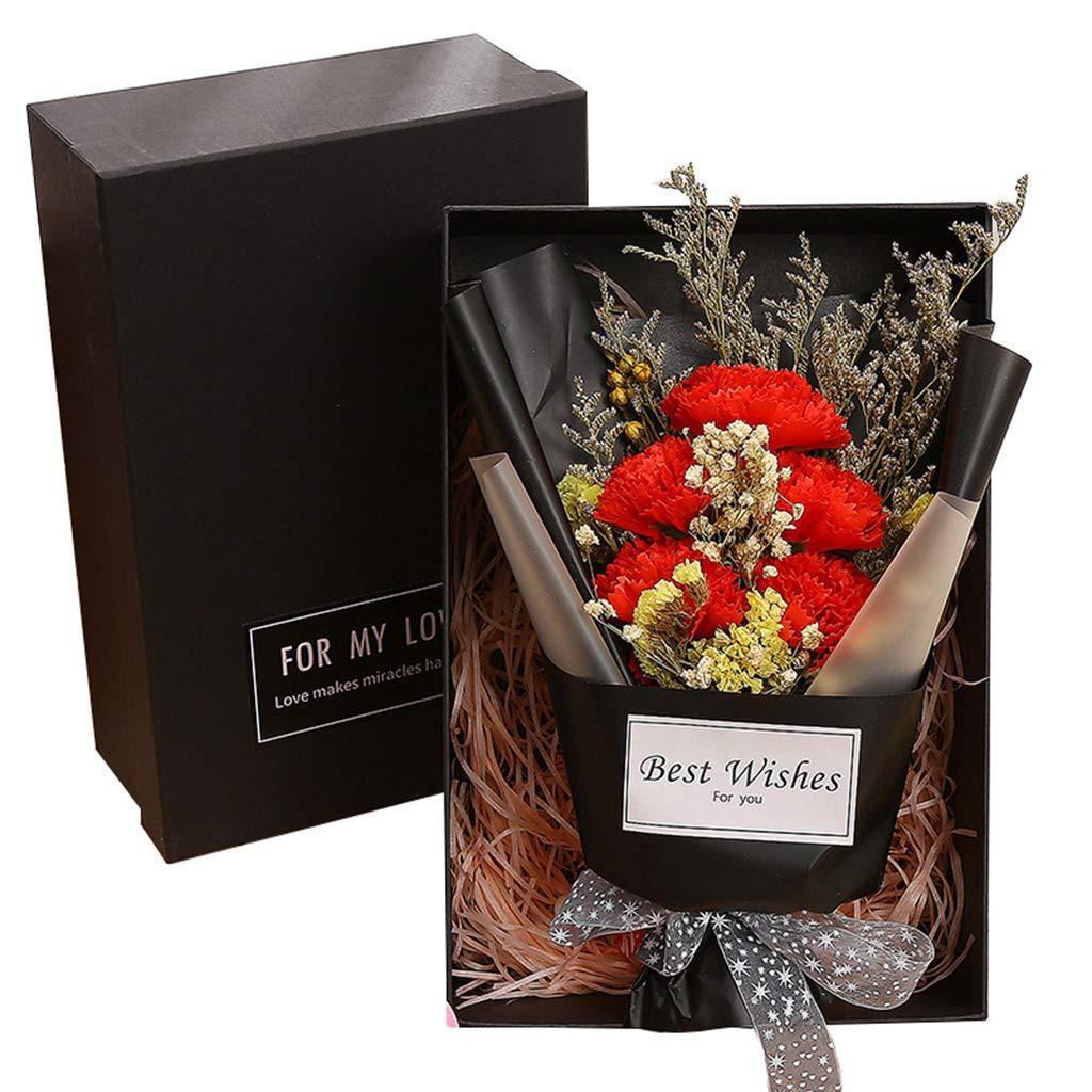 Eternal Soap Flower Carnation Bouquet Box Bouquet Wedding Party Decor Gift