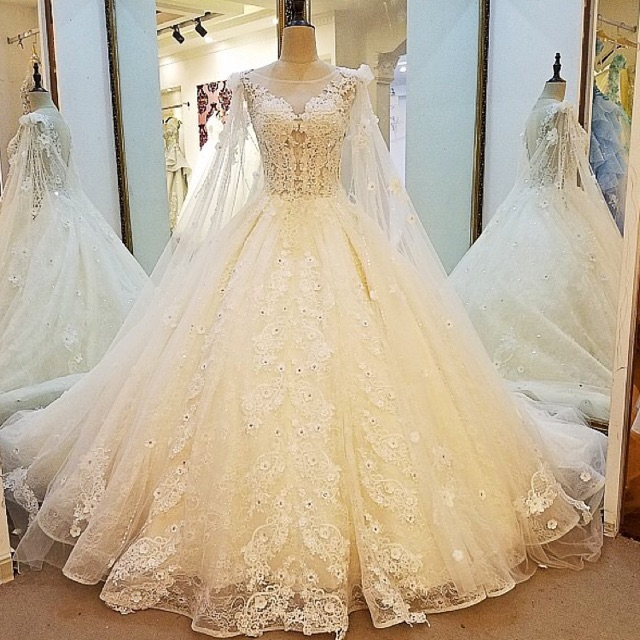 Divisoria Wedding Gowns: Luxury Bridal Wedding Prom Debut Long Evening Ball Gown