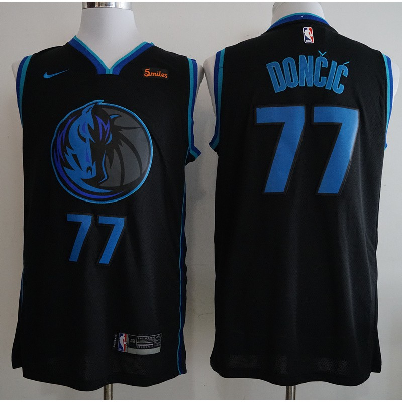 aa0aeec18ed Nike Luka Doncic  77 Dallas Mavericks NBA Jersey Uniform