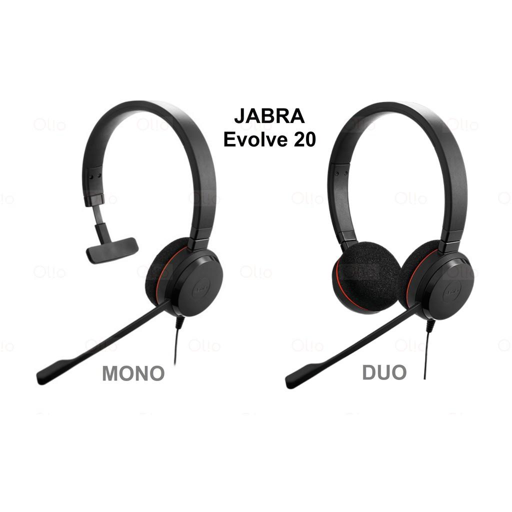Jabra Headset Evolve 20 Duo Mono Brand New Authentic Shopee Philippines