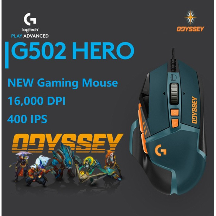 2019 Logitech G502 HERO Optical Gaming Mouse LOL Limited