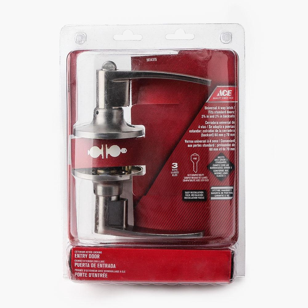 Ace Hardware Stainless Steel Lever Door Lockset | Shopee Philippines