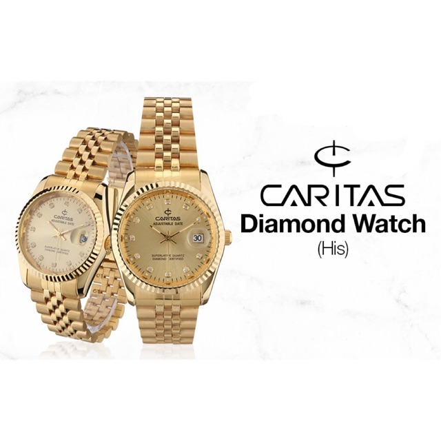 Authentic CARITAS (COUPLE) Diamond Watch  8f13c13613