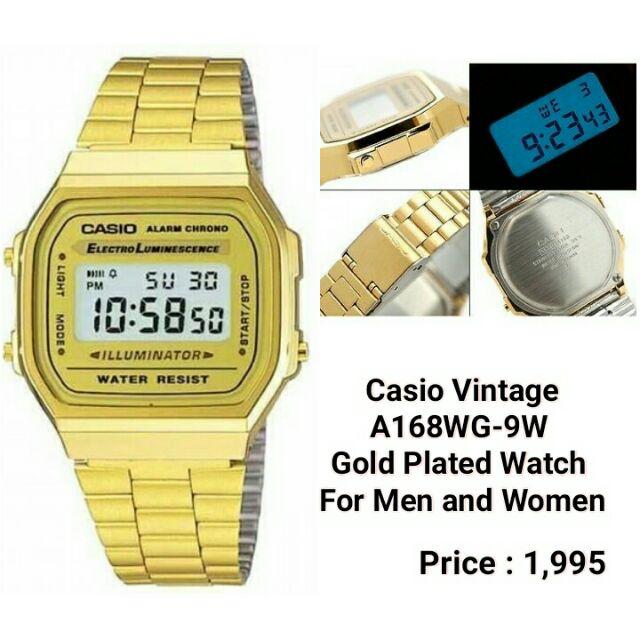 75e7b2ac986c ORIGINAL CASIO VINTAGE A168WG-9W GOLD PLATED WATCH (COD)
