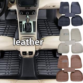 5Pcs Floor Mats Front /& Rear Liner Black PU Leather All Weather for 5 Seats Car