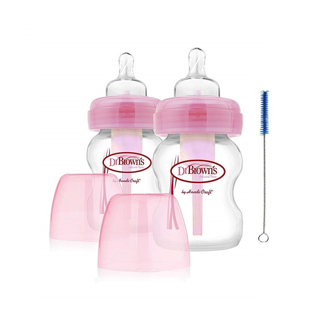 Dr Browns 9oz Pp W Neck Options Transition Spout 1 Pck Shopee Wide Bottle Soother Gift Set Blue Pink Philippines