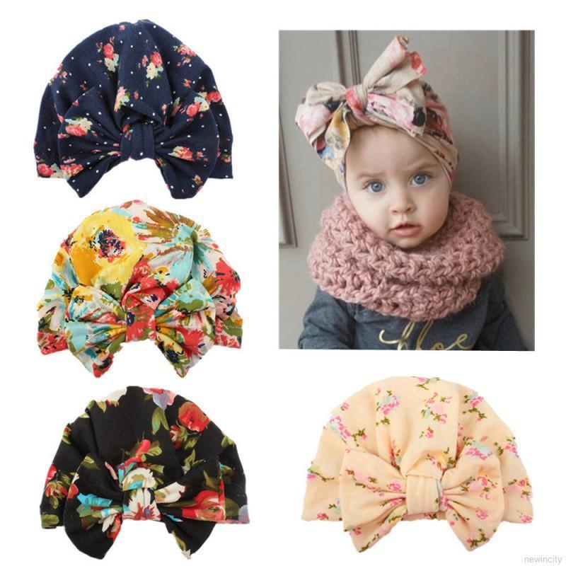 53b91067a Baby Kid Girl Bowknot Turban Knot Hospital Hat Beanie Cap | Shopee ...