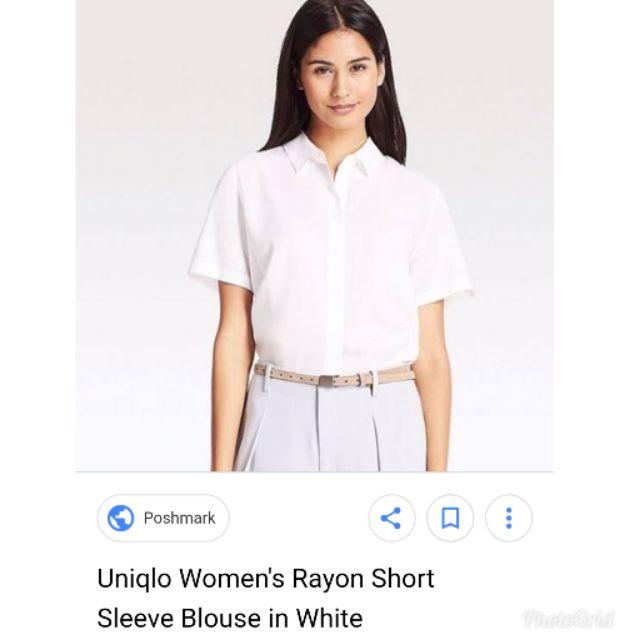 f682cbf1bb41fe uniqlo white rayon button down   Shopee Philippines