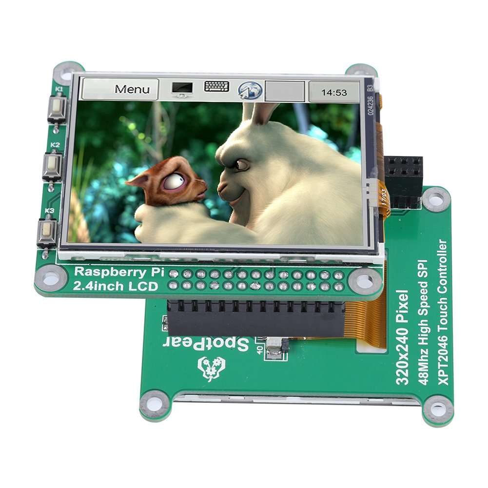 2 4 inch TFT LCD Resistive Touch Screen for Raspberry Pi