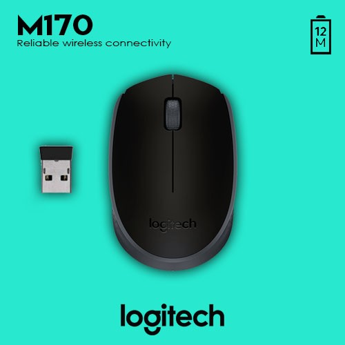 Logitech M170 Wireless Mouse (Black) | Shopee Philippines