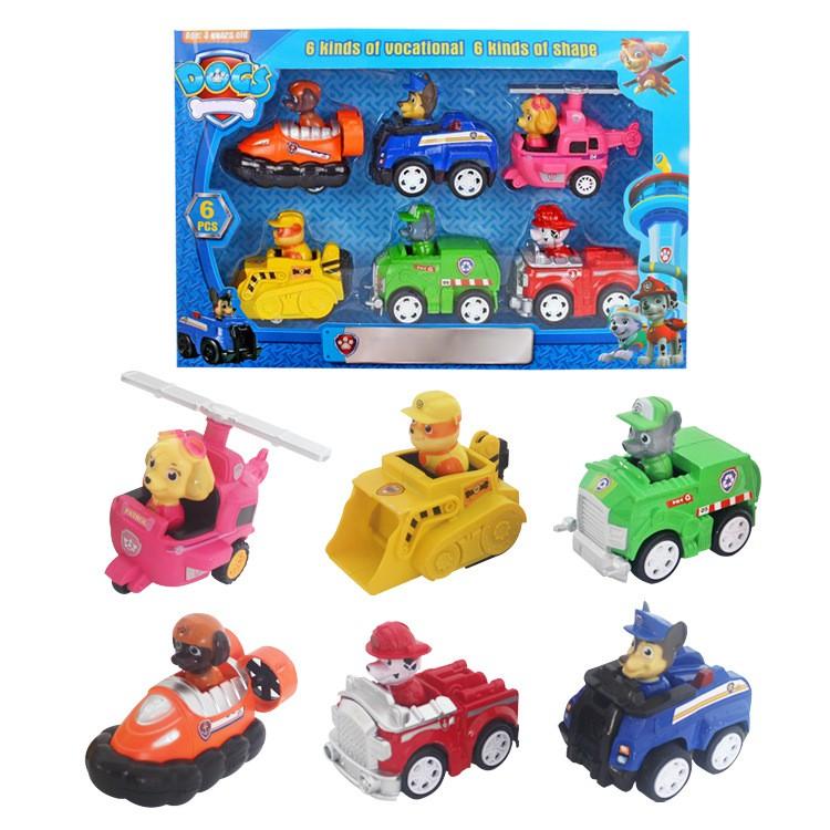 6pcs Children S Car Toy Cartoon Paw Patrol Dogs