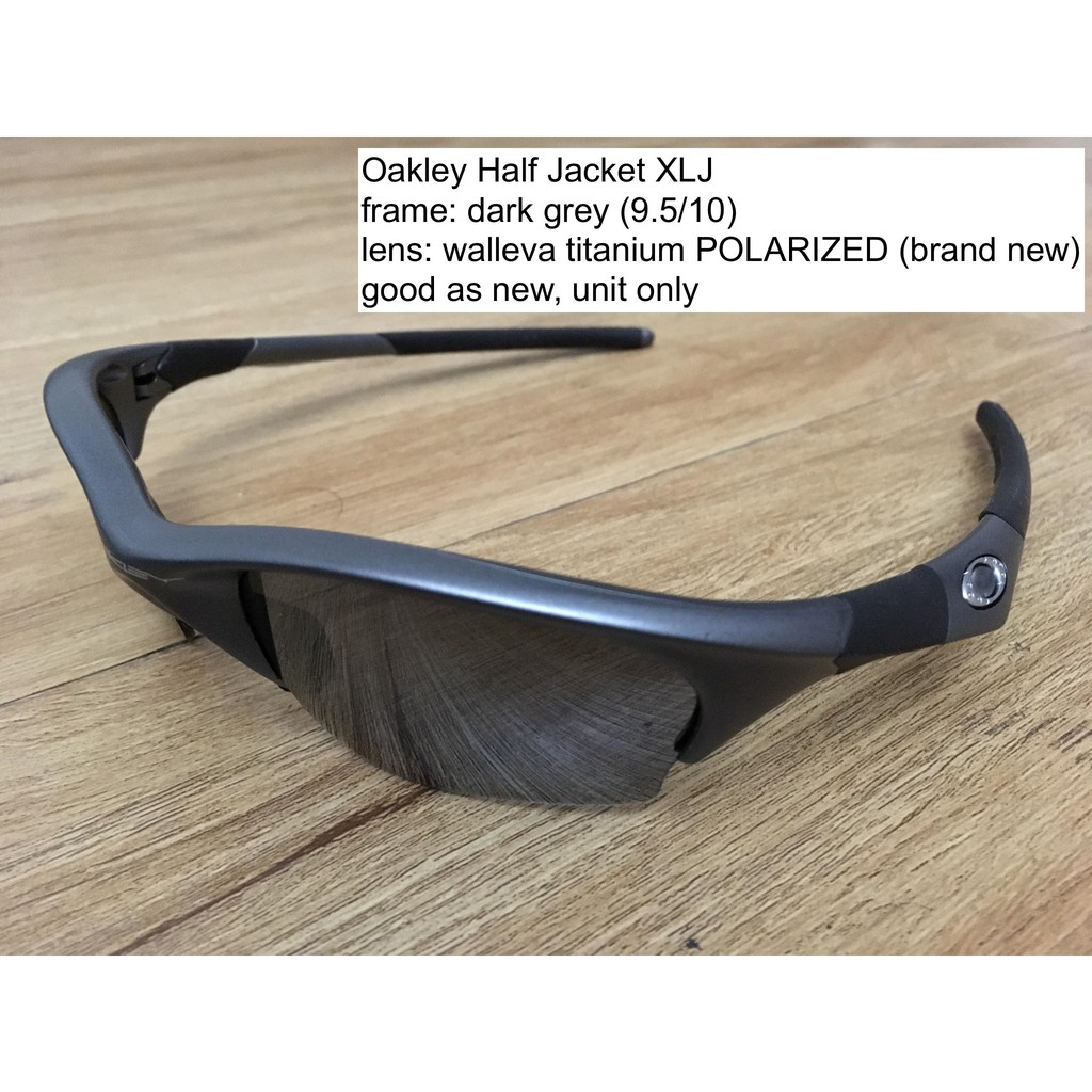 751f6df2f8 DARK BLACK Oakley Half Jacket 2.0 Lenses POLARIZED. QUALITY   FIT PERFECT