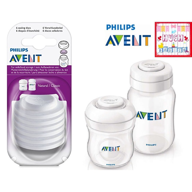 Philips Avent Baby Drinks Milk Feeding Bottle Storage Sealing Discs