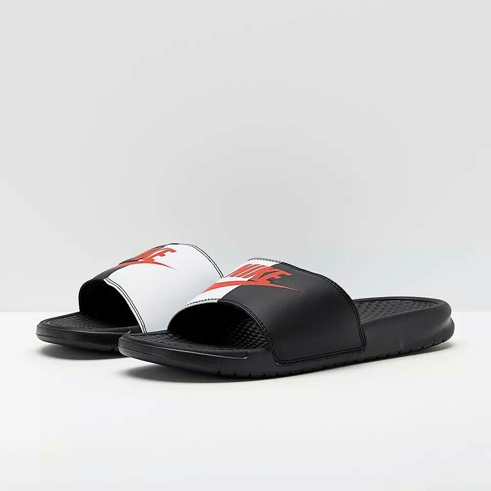 f74902ff169fe7  3colors Nike Benassi Swoosh slippers women s men s sandals beach shoes