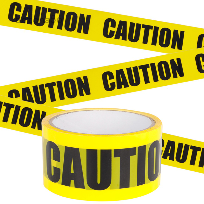 Warning Tape Caution Adhesive Barricade Tape With Bold Black Font Safety Tape Shopee Philippines