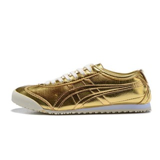 uk availability 047ca a550b zhshe ASICS ONITSUKA tiger men and women running shoes Authentic golden