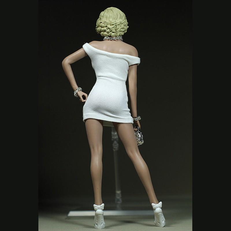 "1//6 Marilyn Monroe Classic White Dress Mini Skirt Toy F 12/"" Doll NO HEAD NO BODY"