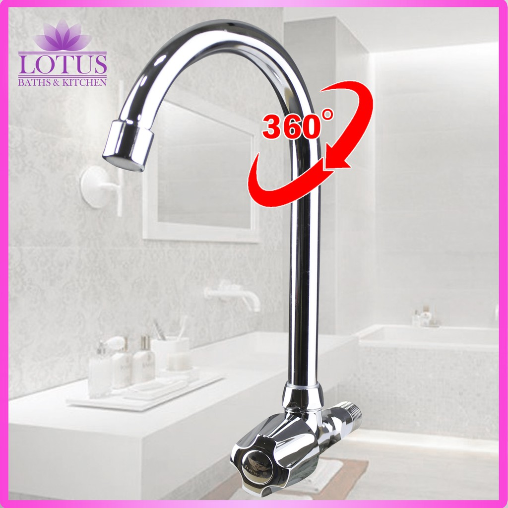 Lotus S 2324 Wall Mounted Kitchen Bathroom Tap Faucet Basin Kitchen Single Lever Silver Shopee Philippines