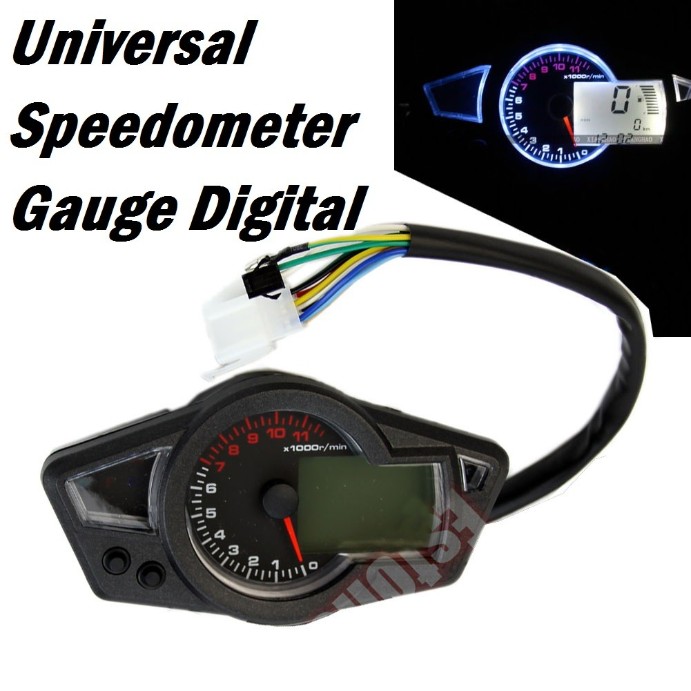 Motorcycle Digital Panel Gauge Lcd Universal 3inch Rpm Shopee Suzuki Outboard Gauges Wiring Diagram Philippines