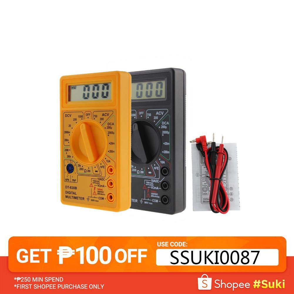 DT-838B LCD Digital Multimeter Amp Volt Ohm Tester Meter