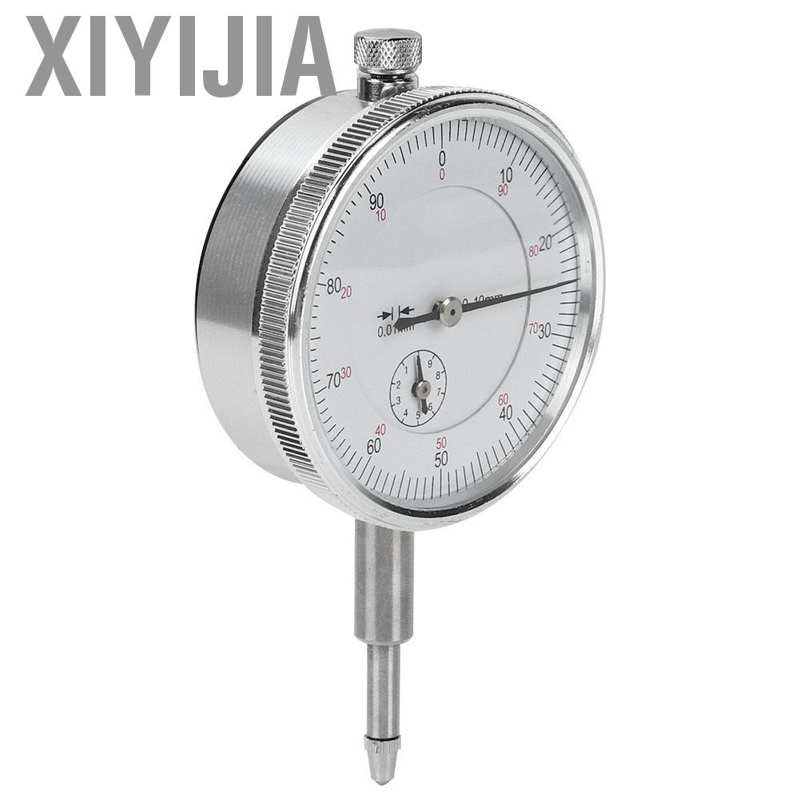 0-10mm // 0.01mm High Accuracy Aluminum Alloy 0-10MM // 0.01MM Dial Gauge Manual Measuring Tool 59mm Dial Diameter 8mm Diameter Socket Dial Indicator Dial Gauge