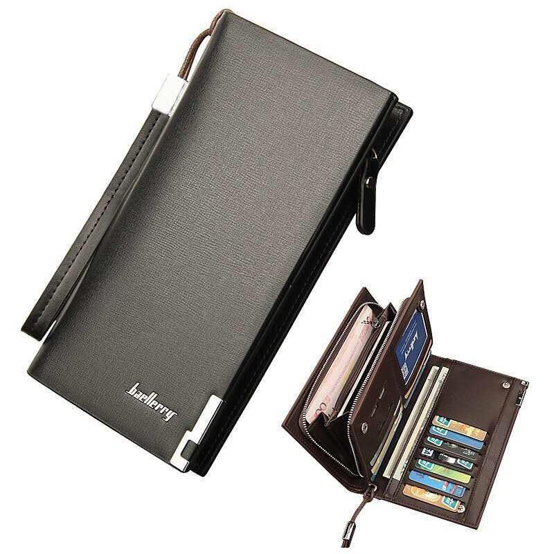 83925fc274d4 Men Senior business Leather Card Holder Cellphone Wallet