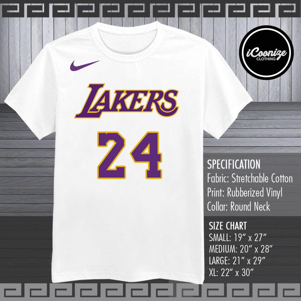 free shipping 457e4 66529 NBA LOS ANGELES LAKERS KOBE BRYANT MAMBA SHIRT   Shopee Philippines