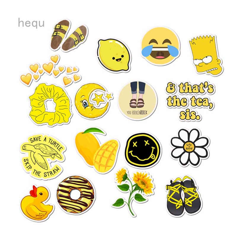 Emoji big smiles A5 stickers set decals