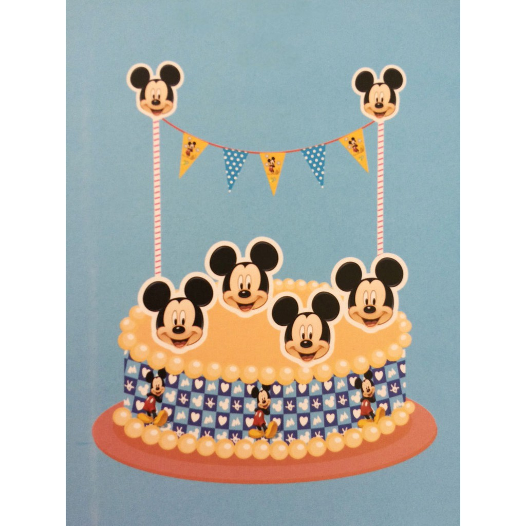 Amazing Mickey Mouse Cartoon Character Cake Topper Kit Party Favors Funny Birthday Cards Online Unhofree Goldxyz