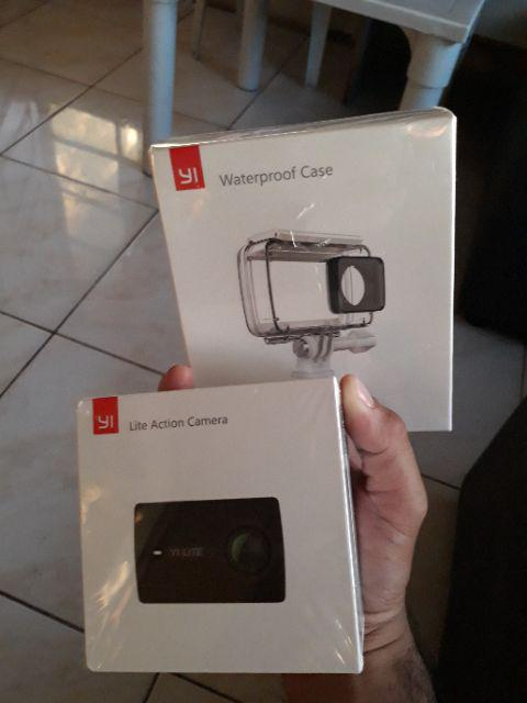 YI Lite Action Camera with waterproof case (Black)   Shopee