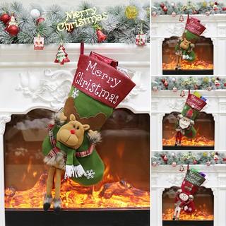Christmas Socks Stocking Gift Bag Ornament Party Xmas Tree Hanging Decoration