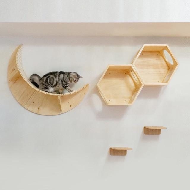 Gugupet Wall Mounted Cat Climbing Frame, Wall Mounted Cat Furniture Nz