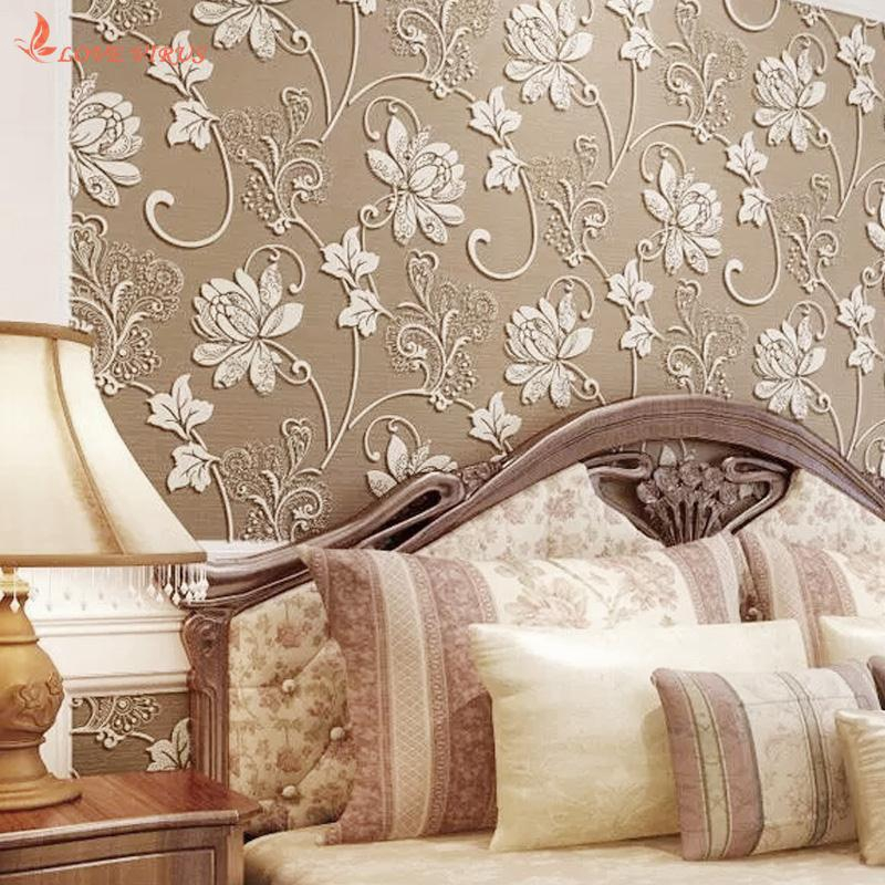 3d Self Adhesive Retro Wall Stickers Flower Wallpaper Home Bedroom Wall Decor Shopee Philippines