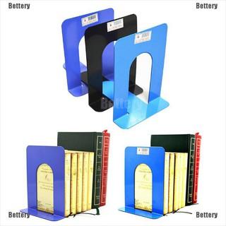 "2X6.7/""L-Shaped Bookend Anti-skid Solid Metal Shelf Book Case Holder Home OJ"