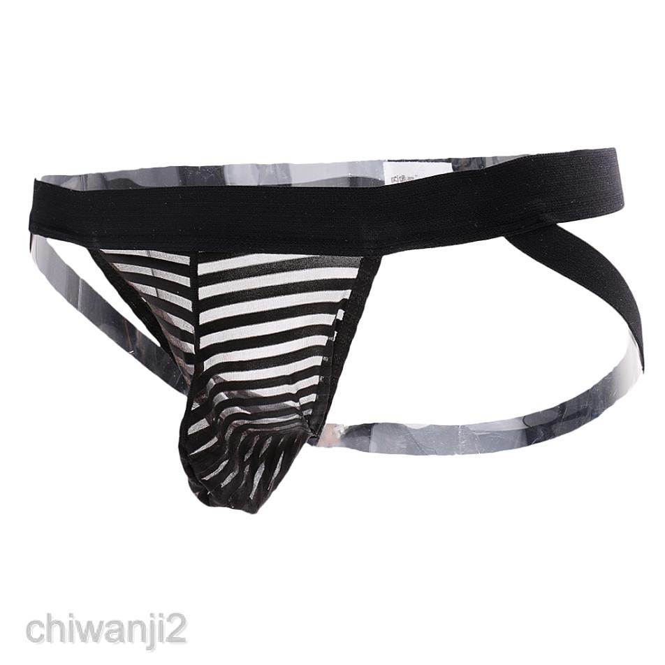 Men Jock Strap G-String Underwear Thong Bikini Briefs Shorts Knickers Underpants
