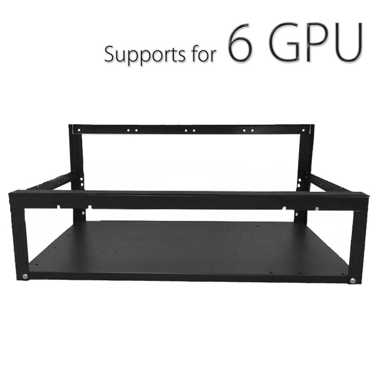6//7 GPU Coin Open Air Mining Frame Rig Case BTC For ETH Ethereum Miner TO