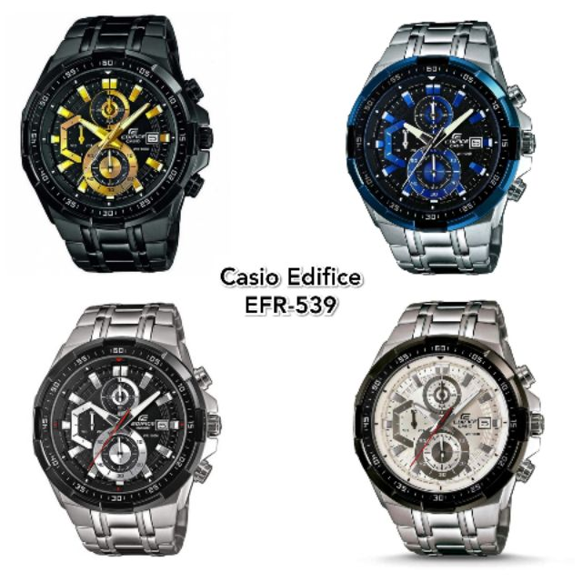 d2b37eed2e4f Casio Edifice EFR-539 Chronograph Stainless Steel Watch