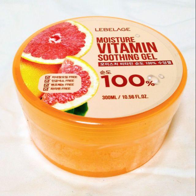 LEBELAGE - Moisture Vitamin Soothing Gel 100% 300ml | Shopee Philippines