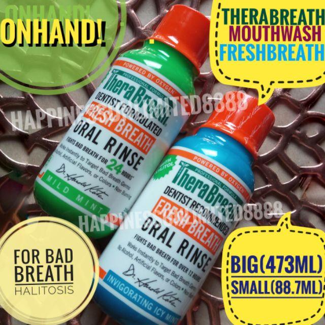 Therabreath Fresh breath oral rinse mouthwash