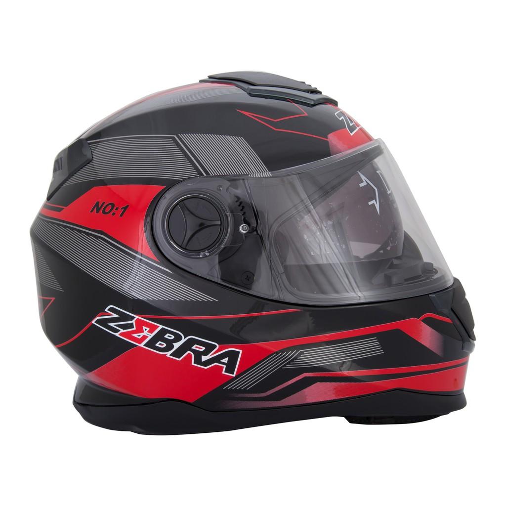 9d294f22 (Borris) Zebra Helmet Dual Visor   Shopee Philippines