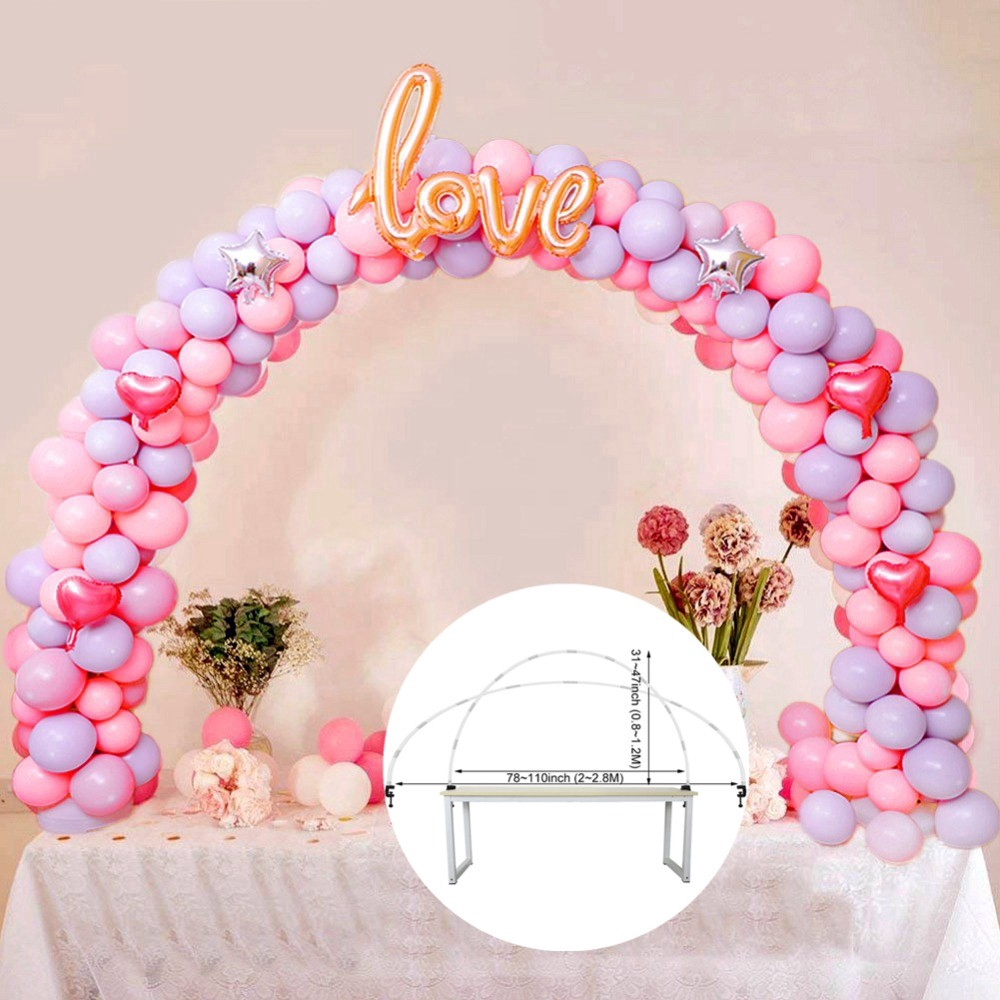 Large Balloon Arch Frame Column Stand Builder Kit Birthday Party Wedding Decor