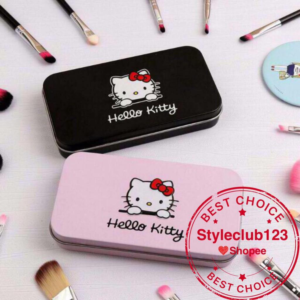 ab7952d2c Hello Kitty 7 Pcs Mini Makeup Brush Set (PINK) | Shopee Philippines