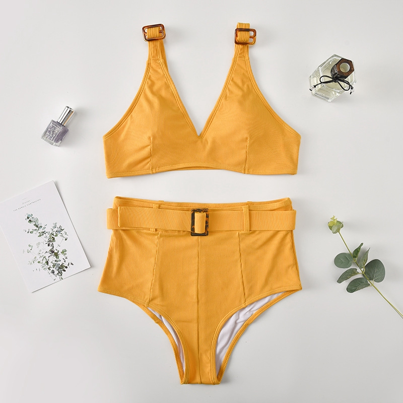 Ready to ship! Basic Bikini in Yellow