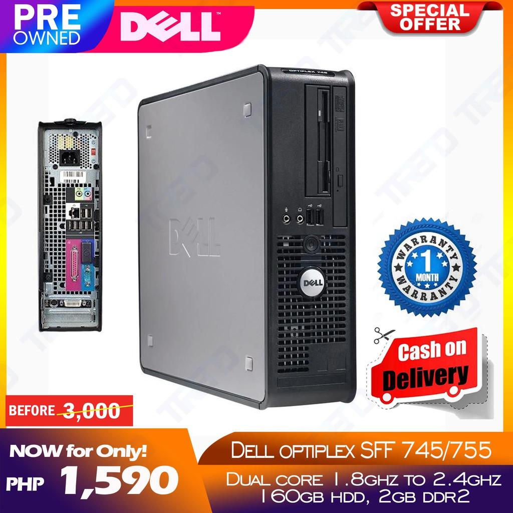 Dell Optiplex 745 / 755 SFF Slim Desktop PC - Dual Core/2gb/160gb