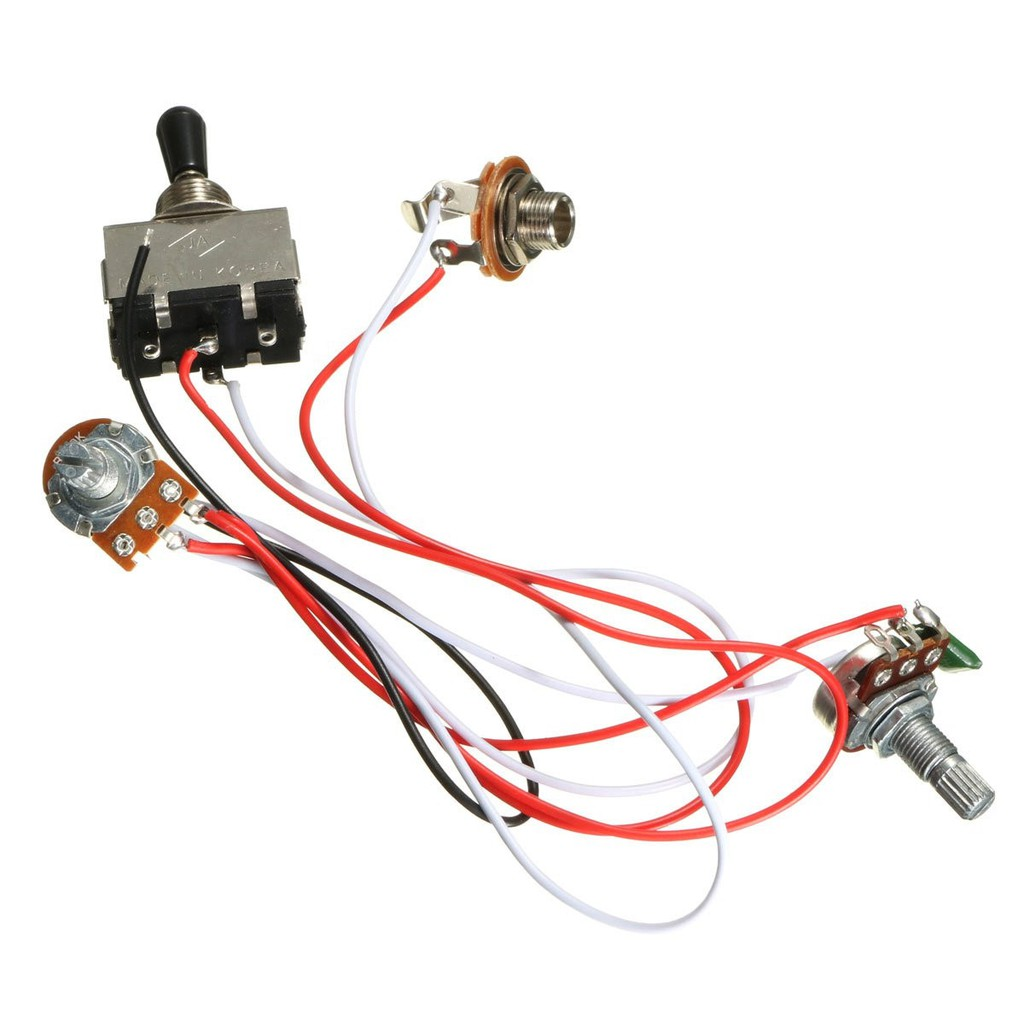 Electric Guitar Wiring Harness Kit 3 Way Toggle Switch 1 Volume 1 Tone 500k Pots Shopee Philippines