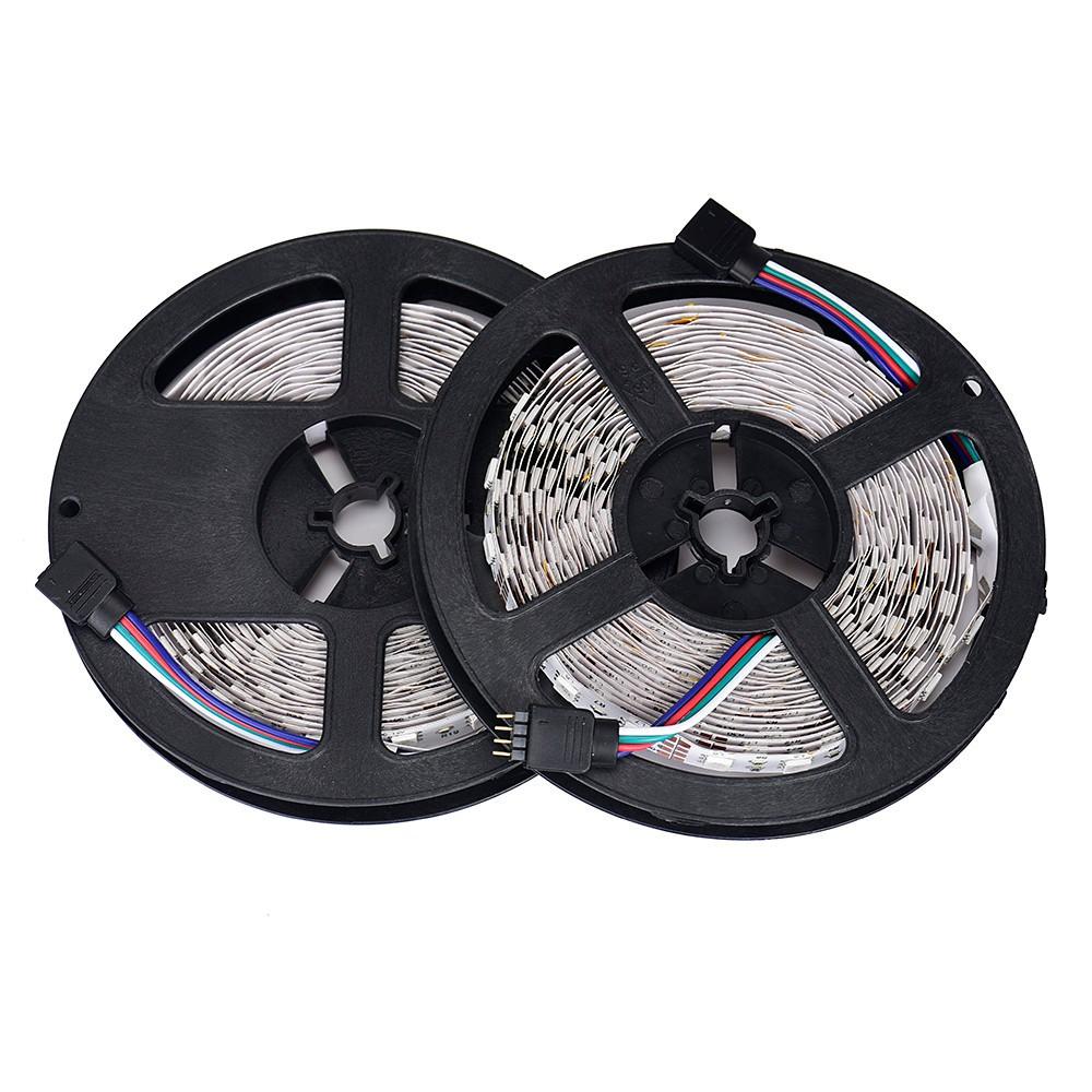 save off fff74 8aefe 10M RGB 5050 Waterproof LED Strip light 300 SMD 44 Key Remote 12V 5A Power
