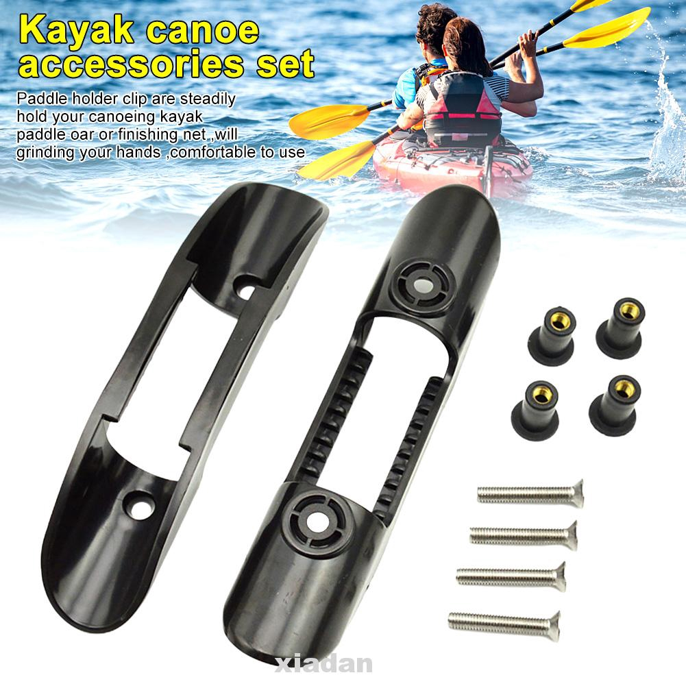 Watercraft With Hardware Fishing Net Kayak Paddle Clip Deck Mounted Oar Holder