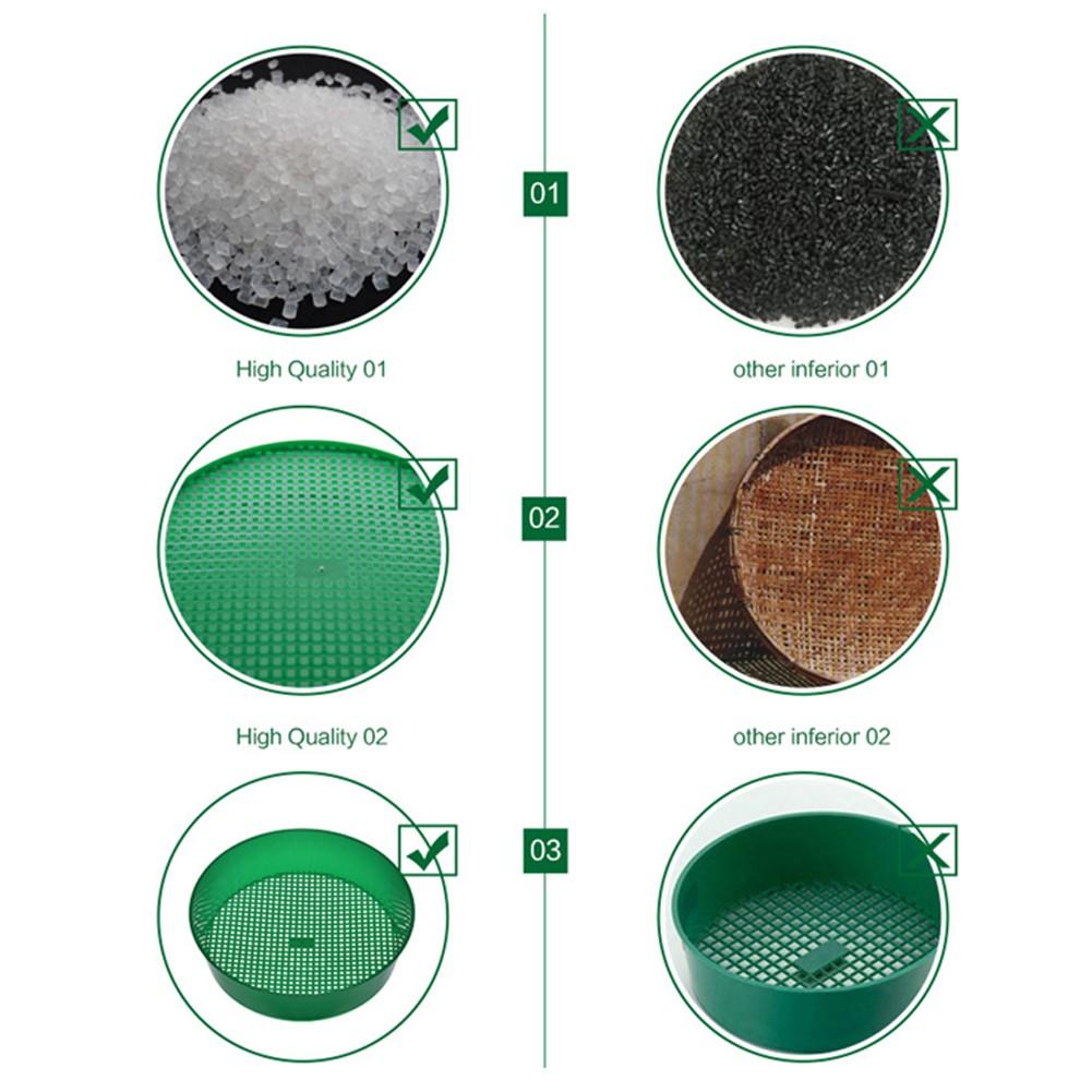 Plastic Garden Sieve Riddle Green For Composy Soil Stone Mesh Gardening Tool New
