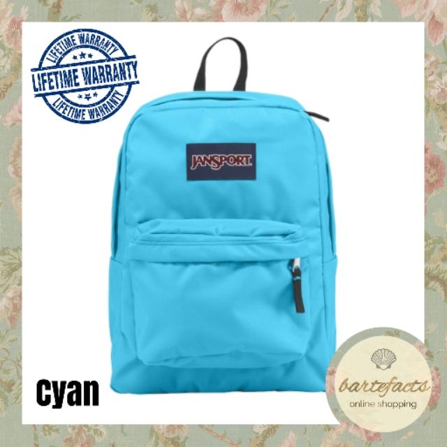 Authentic Jansport Backpack with lifetime warranty (cyan)
