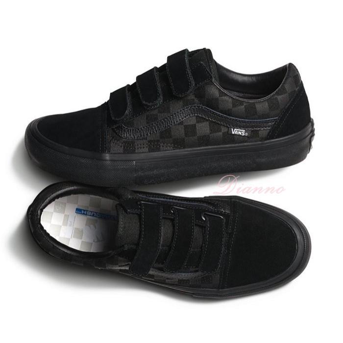 all black velcro vans